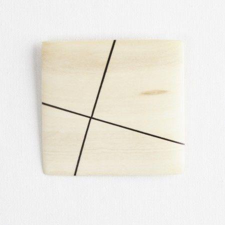 Darkroom Georges Larondelle Square Brooch, Off Center Cross