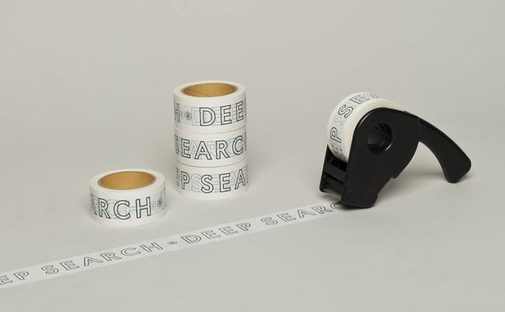 Box tape with logotype detail created by Bielke+Yang for Norwegian shoe brand Deep Search
