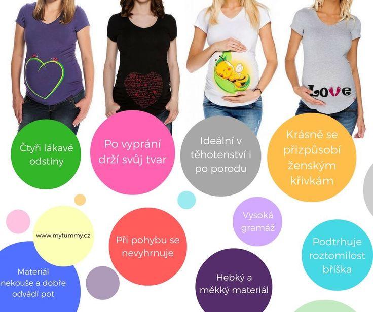 Těhotenská trička s roztomilými potisky si na první pohled zamilujete a to díky tomu, že jsou taková, jaká jsou :-)