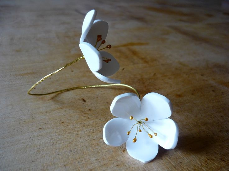 DIY Fleurs de pommier (bijoux et accessoires) sur Douceurs et couleurs un blog plein de tutos!