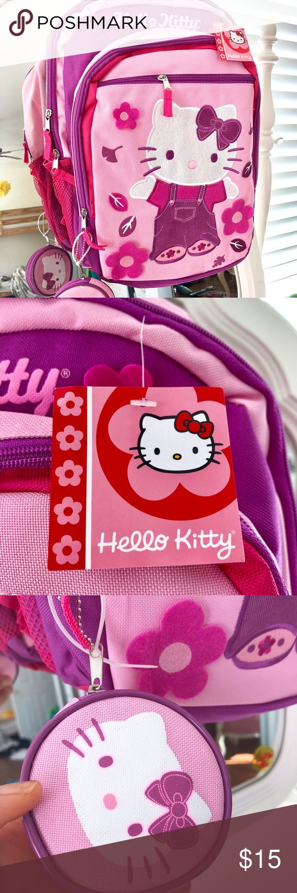 Hello Kitty Backpack NWT 💕 adorable new HelloKitty back pack: pencil organizer-side mesh pockets for water bottle. Bags Backpacks