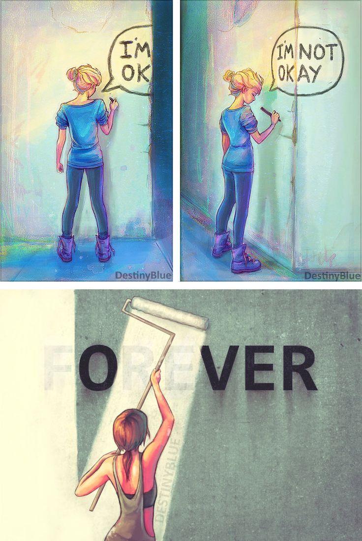 Destiny Blue creates mental health art that details her own struggles.