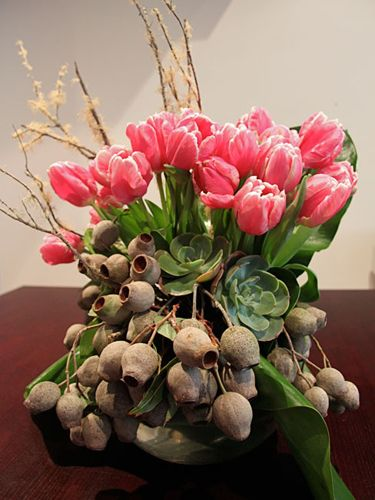 Tulips-and-gumnuts...love this bit of yummy right here!!!