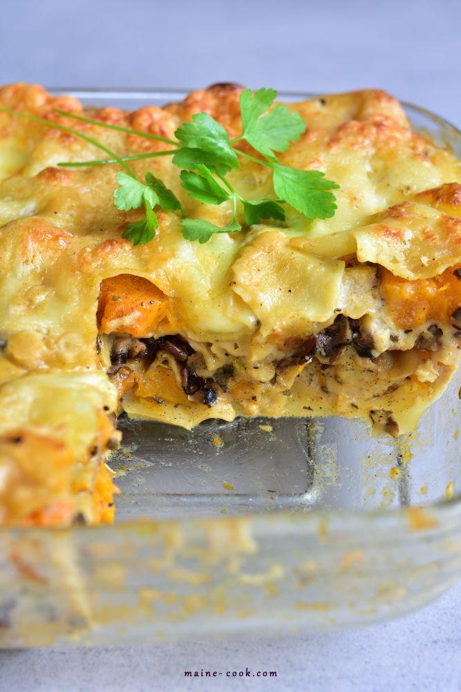 Lasagne Z Dynia I Grzybami Przepisy Na Obiad Lasagne Przepisy