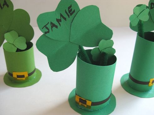 st patricks crafts for kids | St Patricks Day Crafts - Top Hat Table Place Cards