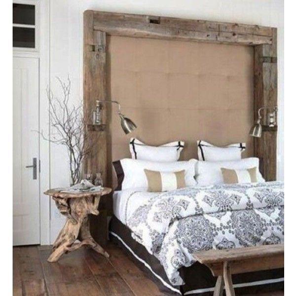 #Rustic beam headboard #bedroom decor idea. Love it! #homedecor @istandarddesign