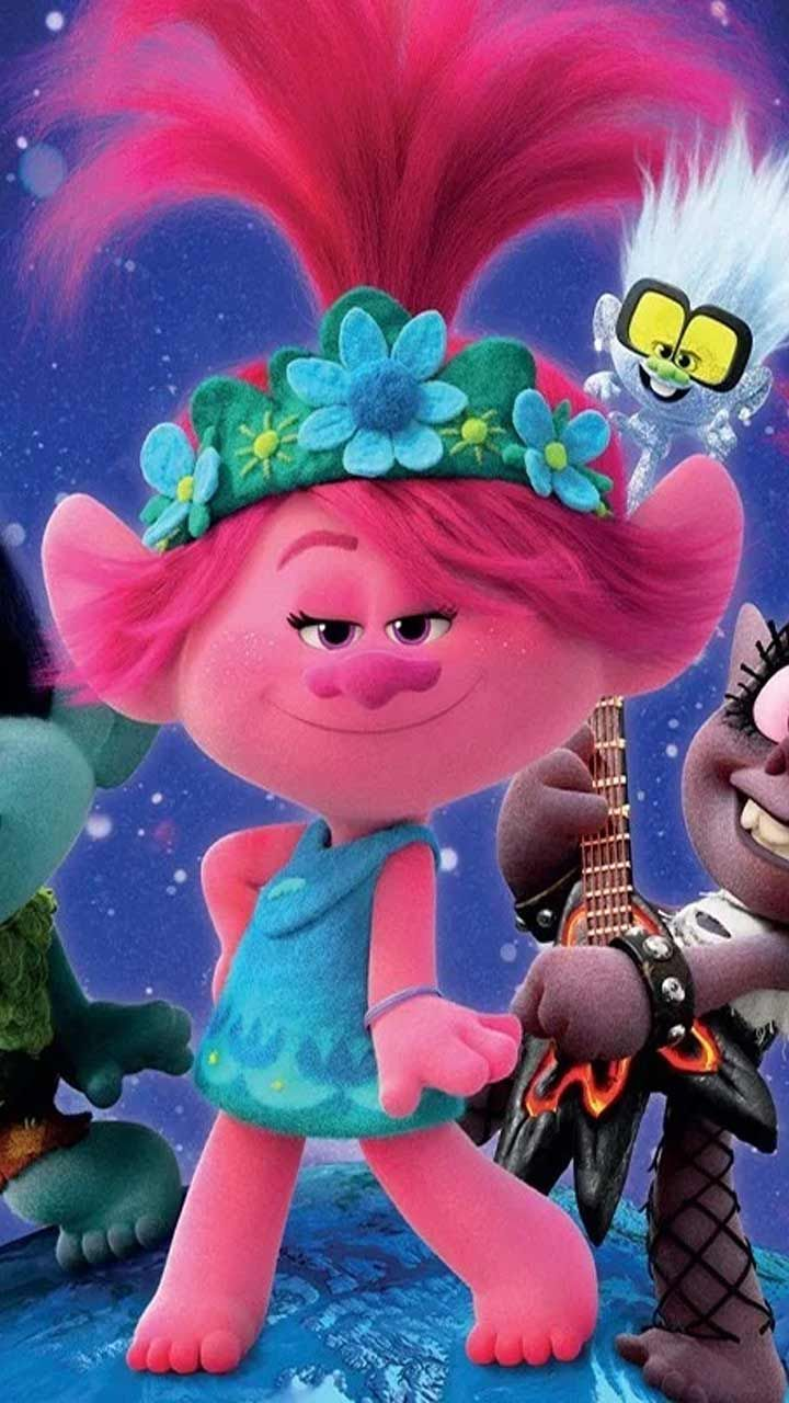 Trolls World Tour Wallpaper Hd Phone Backgrounds Movie Poster Characters For Iphone Android Screen Cute Disney Wallpaper Movie Wallpapers Disney Wallpaper