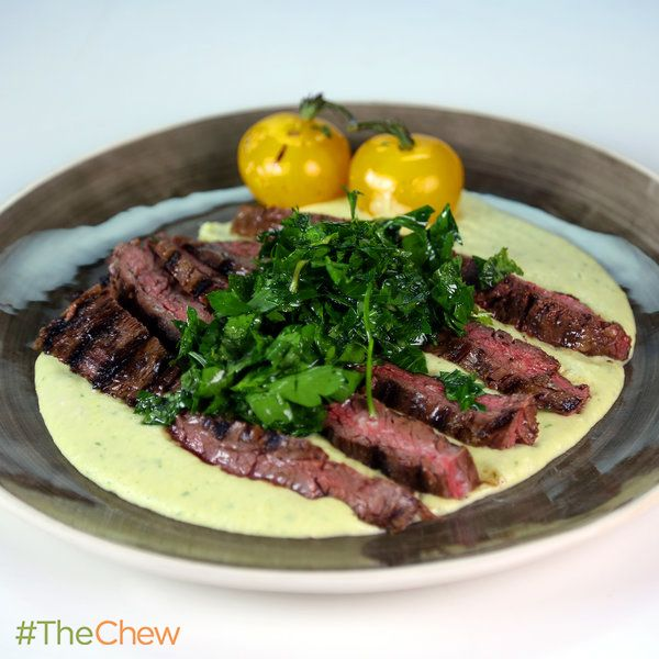 Chili Rubbed Skirt Steak with Salsa Verde, White Beans ...