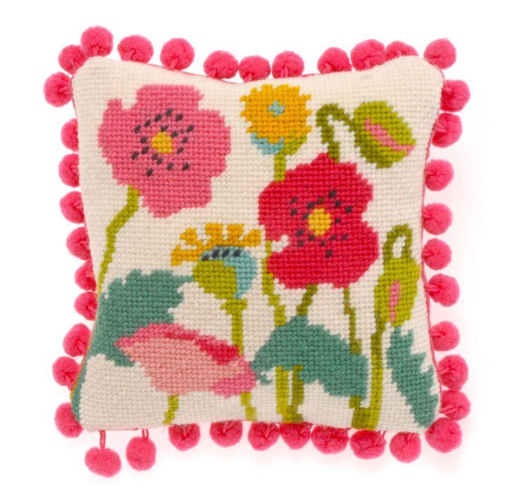 Poppies needlepoint kit at www.madinengland.com