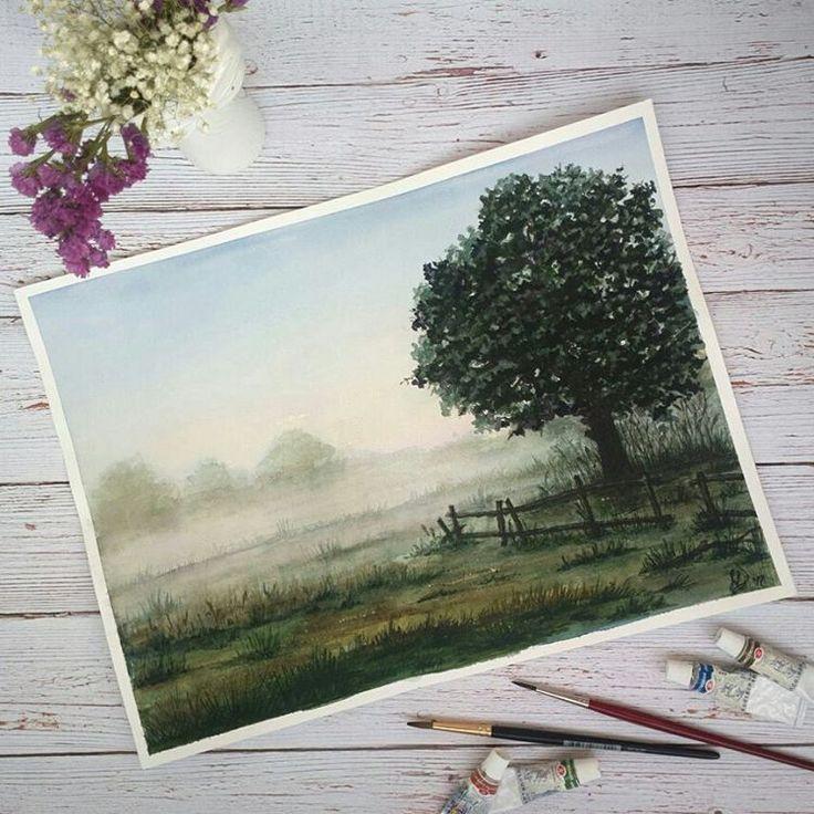 Бумага открытка акварель, картинка марта