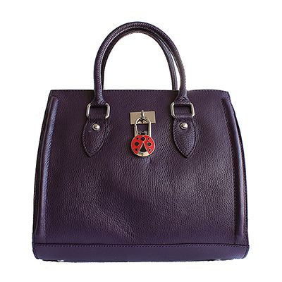 Vintage Gladstone Style Purple Leather Handbag - Down to £49.99 from £94.99