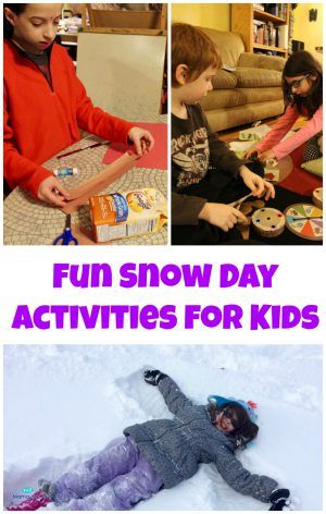 Fun Snow Day Activities for Kids #AD | The Mama Maven Blog