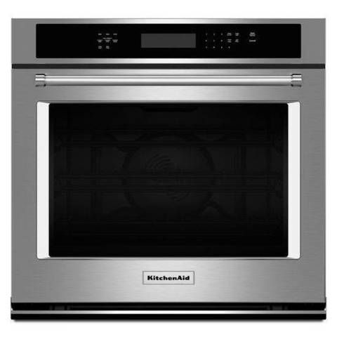 Kitchenaid Self Cleaning Convection Single Electric Wall Oven