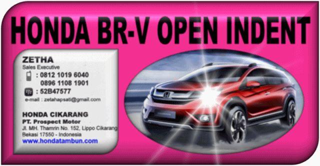 HONDA BR-V OPEN INDENT 0812 1019 6040 / 0896 1108 1901 / PIN : 52B47577. www.hondatambun.com