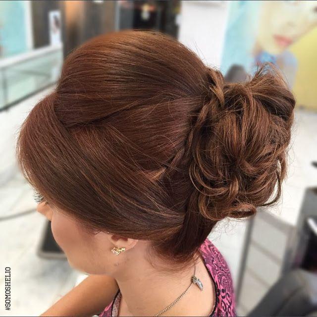 06 penteados de festa para inspirar! Coque com topete