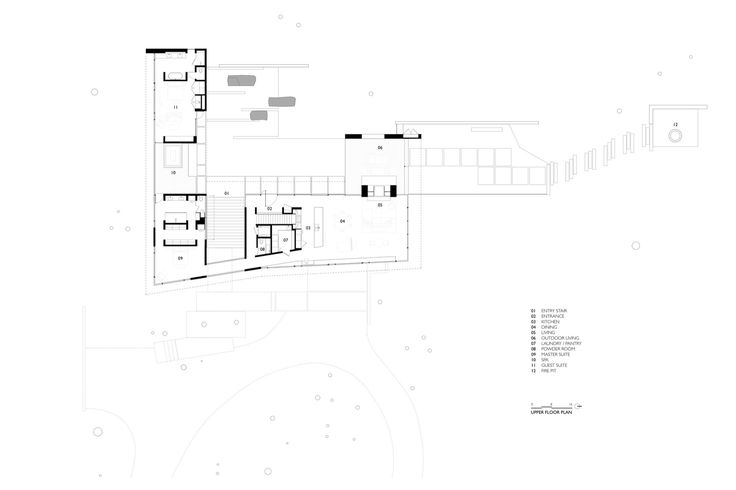 Carmel Valley Residence,Upper Plan