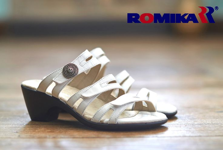Romika - Gorda01 - £70  Creating a key look for the season, Gorda01 by Romika is a style you can wear from day through to night. The generous E width fitting makes this style spacious whilst still giving support.  Shuropody footwear - Romika sandals - Romika shoes - White sandals - Wide fitting sandals - adjustable straps
