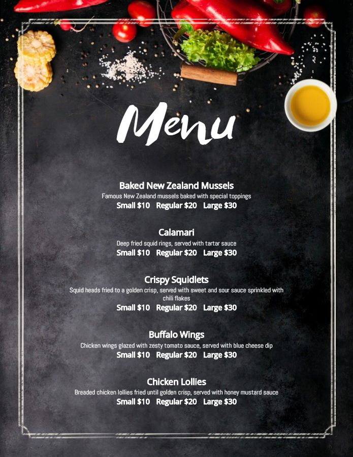 Modern French Bistro Menu Template Design French Cafe Menu