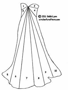 iris folding for gown - Google Search