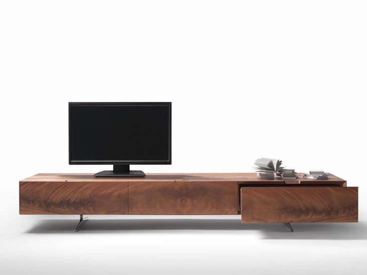 Low wooden TV cabinet Piuma Collection by FLEXFORM | design Antonio Citterio