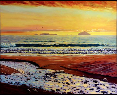 Sailors Grave Beach, NZ, - Helen Blair http://shop.helenblairsart.co.nz