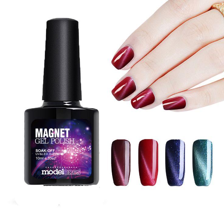 Modelones 1 Unids 10 ml 3D Magnético Esmalte de Uñas de Gel UV Soak-off de uñas Esmalte de Alta Calidad