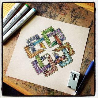 Zentangle Celtic Knotwork | Flickr - Photo Sharing!