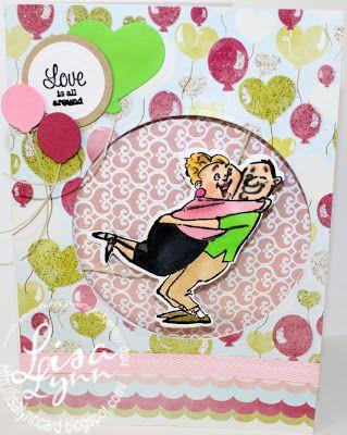 Art Impressions: Ai Spinners ... Love Spinner #4571 Handmade Valentine's Day, Anniversary card. wedding , bridal shower