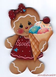 gingerbread Magnets   Details about HP GINGERBREAD with Ice Cream Cone FRIDGE MAGNET