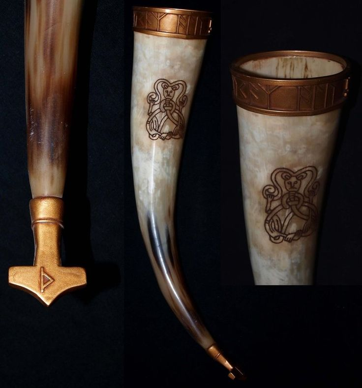 """Finnished today! A Water buffalo horn carved in """"Mammen style"""" 40 sm long."""