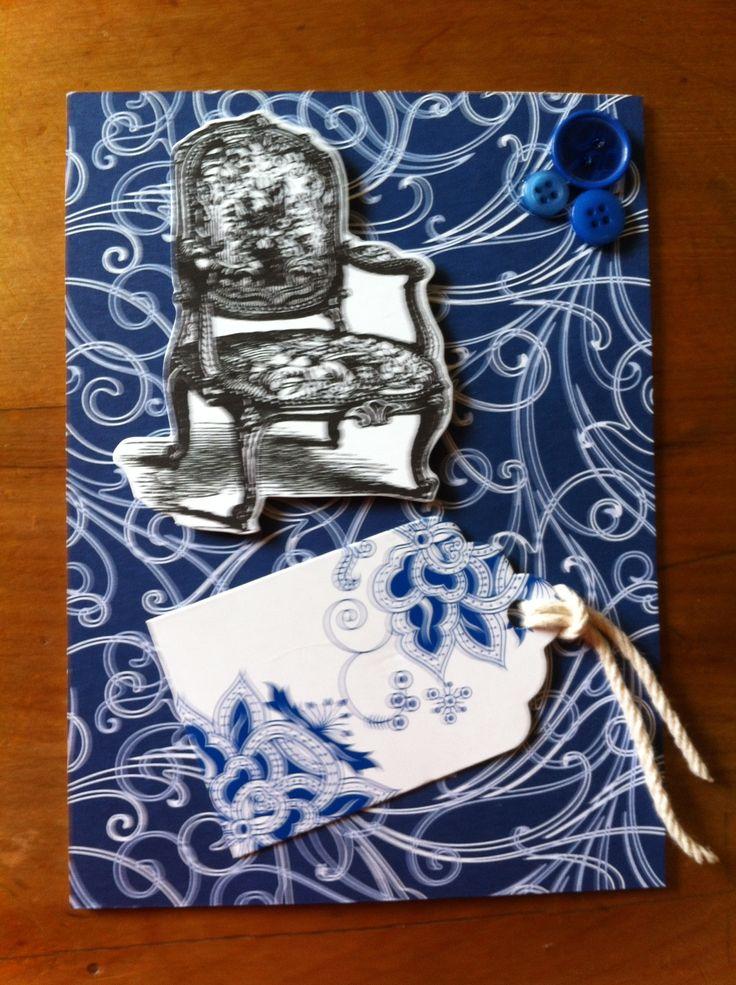 Blue chair card