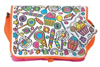 Color a Candy Bag Back to School Messenger Bag by TazzyJazzyKnits, $30.00