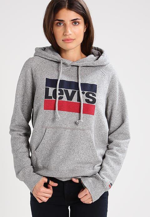 Vêtements Levi's® GRAPHIC SPORT - Sweat à capuche - smokestack heather gris chiné: 64,95 € chez Zalando (au 26/12/17). Livraison et retours gratuits et service client gratuit au 0800 915 207.