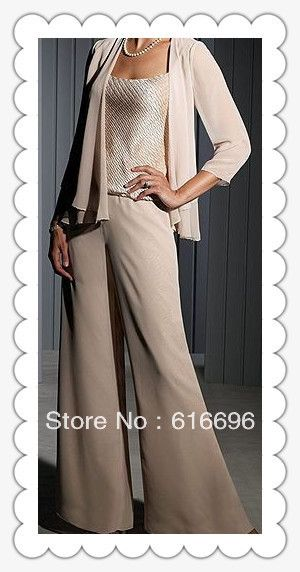 Free Shipping Custom made Chiffon Long Sleeves Mother of the Bride Pant Suits Wedding Mother Of bride Dress on Aliexpress.com
