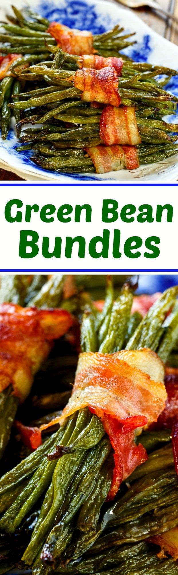 Green Bean Bundles wrapped in bacon- great for the holidays!