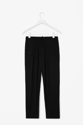 Drawstring pleated trousers COS