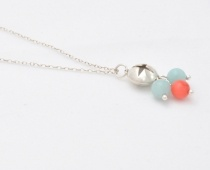 Amazonite & Coral Star Necklace