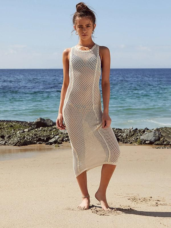 d046ba56425 Solid Backless Hollow Beach Cover-ups in 2019 | Oshoplive #cover ups ...