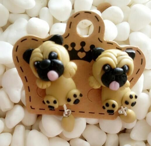 Cute Pug Dog Earrings For Women Cartoon
