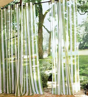 partially clear curtains