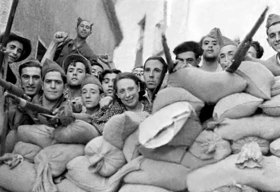 Republican barricades - Spanish Civil War