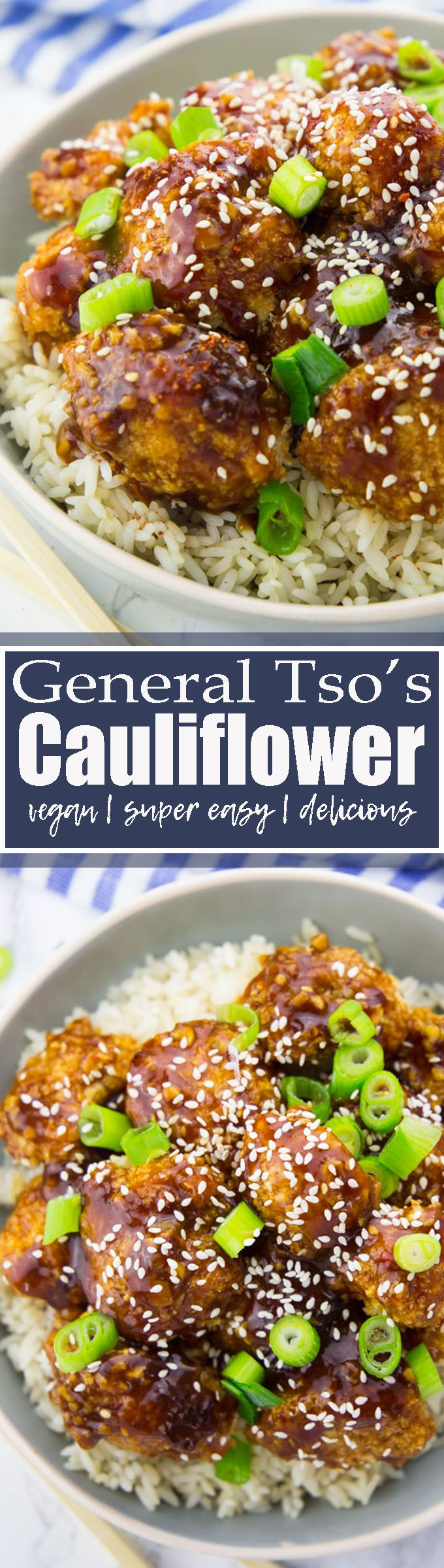 This vegan general tso's cauliflower is so crispy, delicious, and spicy-sweet! And it's just as good as the fried version, while being so much healthier! Welcome to cauliflower heaven! Find more vegetarian recipes at veganheaven.org <3