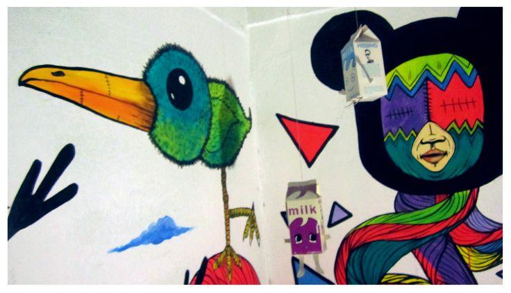 """Ultimo Mural """"los Amigos"""" https://www.facebook.com/Malpegados http://malpegados.tumblr.com https://twitter.com/Malpegados"""
