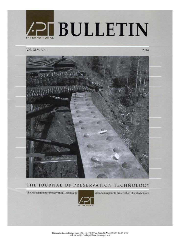 APT Bulletin Vol. 45, No. 1, 2014