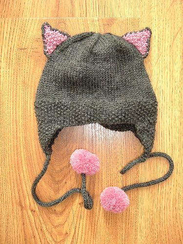 I have made almost a dozen of these Kittyville hats. The kids love them, and they are super easy to knit.