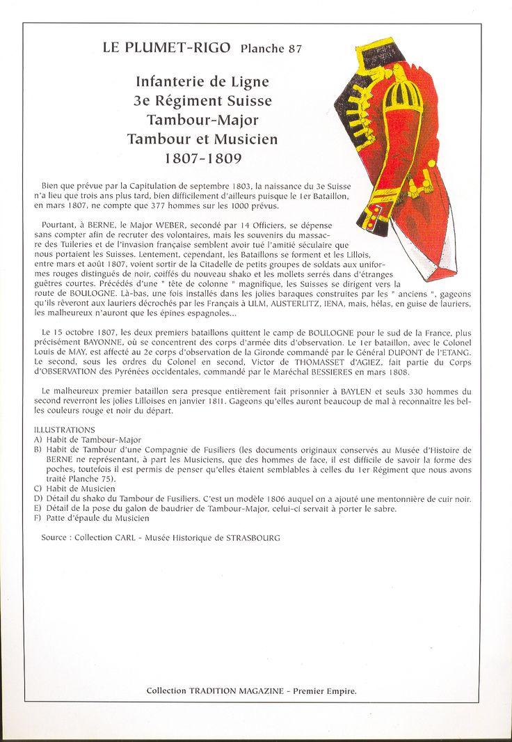 3° Rgt. Fanteria di linea Tamburo maggiore tamburo musici 1807-1809