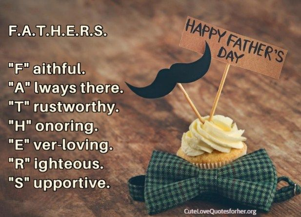 Best Happy Fathers Day Meaningful Quote. Fathers Stands For ...
