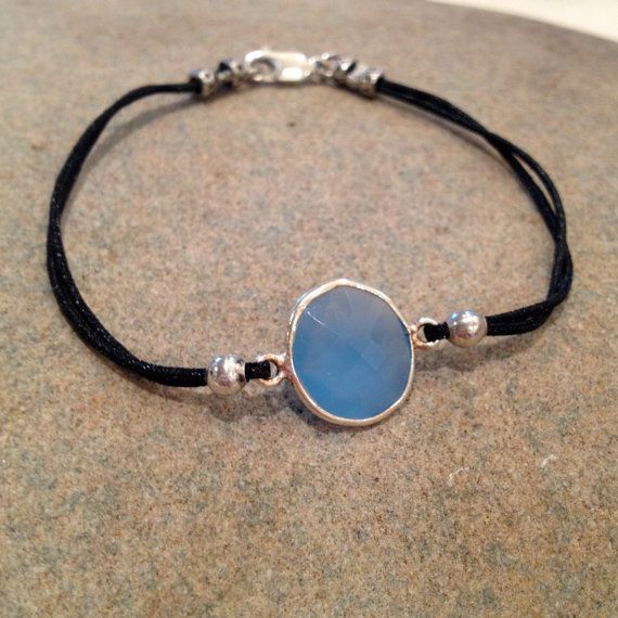 Bella And Bo Hard Candy Corded Blue Chalcedony by BellaAndBo, $54.00