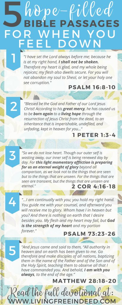 Here are 5 passages to meditate on during downcast days - to savor who Jesus is and soak in priceless hope! Remembering the Gospel brings the greatest joy. | Bible Verses for Hope | Verses for When You're Sad | Bible Verses To Encourage | Gospel Bible Verses | Scriptures for Sad Days | Bible Verses for When I'm Tired