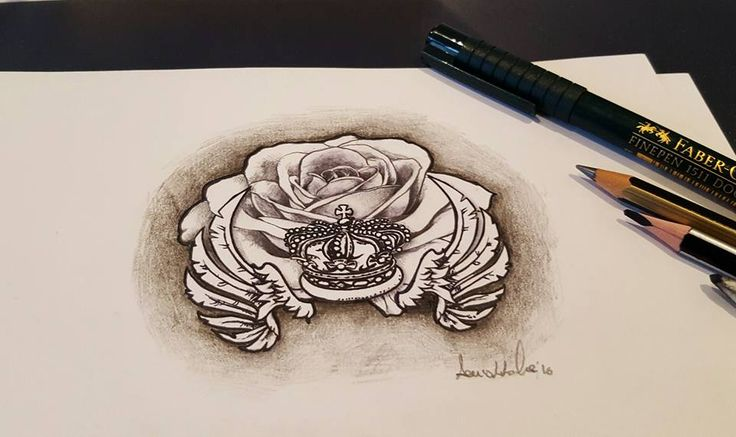 Rosa Mano Ali Disegno Design Bild Drawing black white ink tattoo tatuaggi #gardenoftattoo  Tattoo Artist:  Denis Cicala